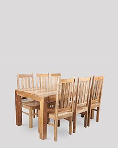 Dakota Light 180cm Dining Table & 6 Dakota Chairs