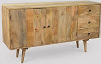 Light Retro Chic Large Sideboard