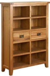 Atlanta 2 Drawer Wide Bookcase