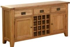 Atlanta 3 Drawer 2 Door Wine Table