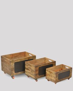 Light Vintage Storage Boxes