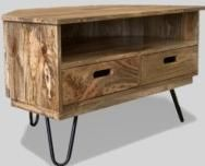 Light Vintage Corner TV Unit