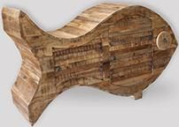 Retro Wooden Fish