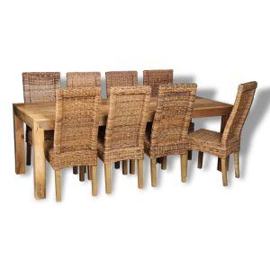 Mango 220cm Dining Table & 8 Havana Chairs
