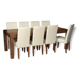 Dakota 220cm Dining Table & 8 Barcelona Chairs