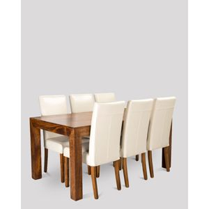 Dakota 180cm Dining Table & 6 Barcelona Chairs