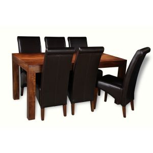 Dakota 180cm Dining Table & 6 Rollback Chairs
