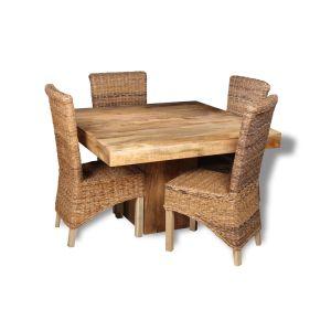 Mango 120cm Dining Table & 4 Havana Chairs