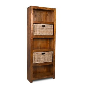Dakota Tall Shelves and Rattan Wicker Baskets