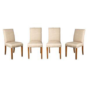Set of 4 Milan Fabric Chairs