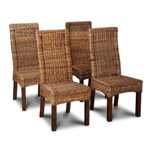 Set of 4 Salsa Rattan Dining Chairs