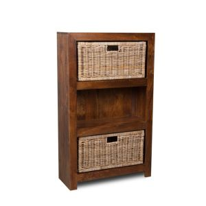 Dakota Medium Shelves with Rattan Wicker Baskets