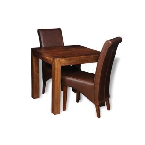 Extra Small Dakota Dining Table & 2 Rollback Chairs