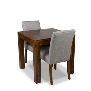 Extra Small Dakota Dining Table & 2 Milan Fabric Chair