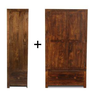 Dakota Double and Single Wardrobe (Left)