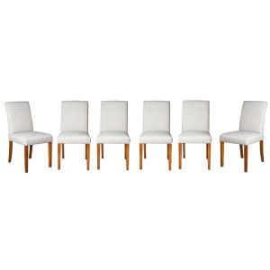 Set of 6 Milan Fabric Chairs