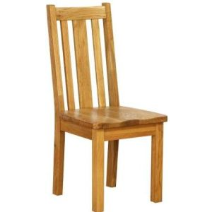 Atlanta Dining Chair with Timber Seat & Vertical Slats