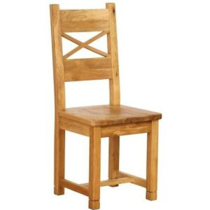 Atlanta Dining Chair with Timber Seat (cross back)