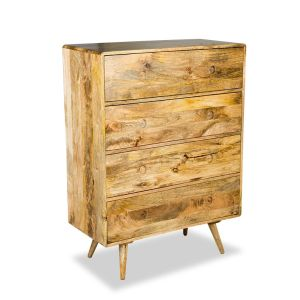 Light Vintage Mango Large Chest of Drawers