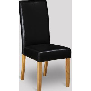 Black Leather Barcelona Dining Chair