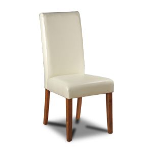 Cream Barcelona Leather Dining Chair