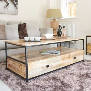 Industrial Wide Coffee Table