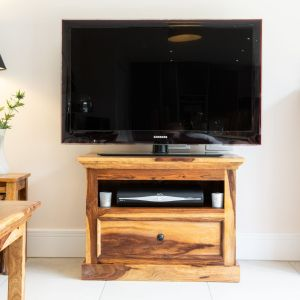 Light Sheesham Media Unit