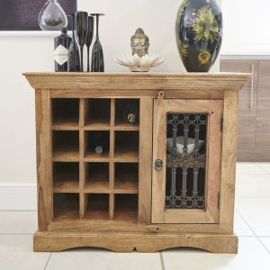 Small Natural Jali Wine Rack