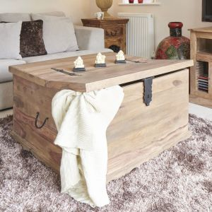 Jali Natural Square Trunk Coffee Table