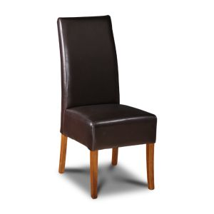 Brown Madrid Leather Dining Chair