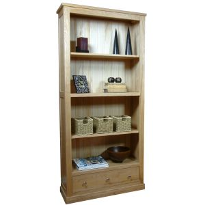 Mobel Oak 3 Drawer Bookcase