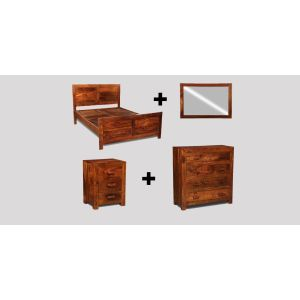 Small King Size Cuba Bedroom Package