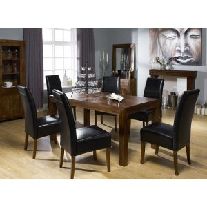 Black Madrid Leather Dining Chairs