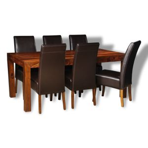 Large Cube Dining Table & 6 Madrid Chairs