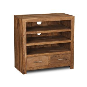 Cube Natural 3 Shelf Media Unit