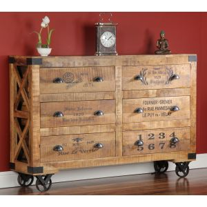 Industrial 6 Drawer Chest