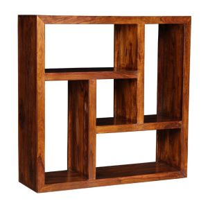 Cube Honey Centered Square Bookcase
