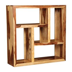Cuba Light Centered Square Bookcase