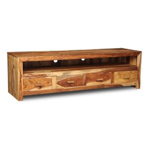 Cuba Light Long 4 Drawer TV Unit