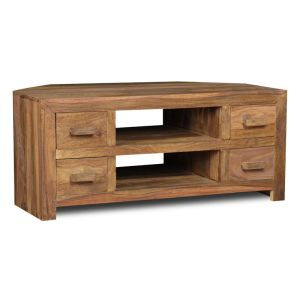Cuba Natural Corner TV Unit