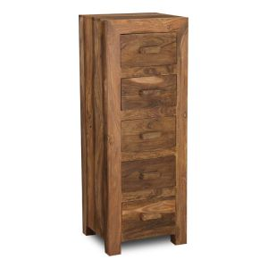 Cuba Natural 5 Drawer Tall Boy