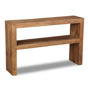 Cube Natural Console Table