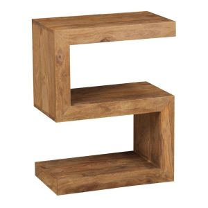 Cube Natural S Shaped Side Table