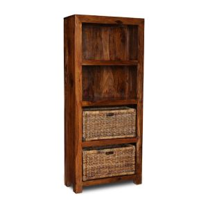 Cube Bookcase with Baskets