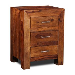 Cube 3 Drawer Bedside Unit