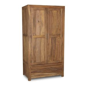 Cube Natural Double Wardrobe