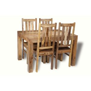 Light Dakota 120cm Dining Table & 4 Dakota Chairs