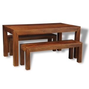 Dakota 160cm Dining Table & 2 Dakota Benches