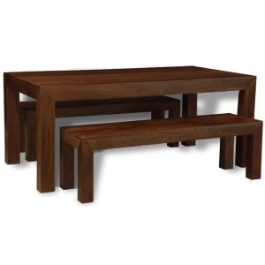 Mango 180cm Dining Table & 2 Benches