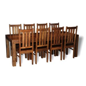 Dakota 220cm Dining Table & 8 Dakota Chairs